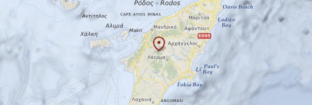 Carte Dodécanèse - Îles grecques