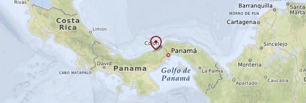 Carte Côte caraïbe - Panama
