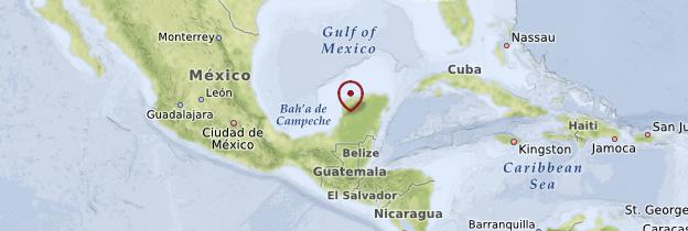 Carte Golfe du Mexique - Mexique