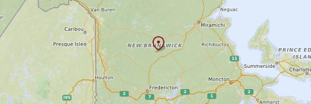 Carte Nouveau-Brunswick - Canada
