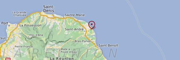 Carte Côte au vent (nord-est) - Réunion