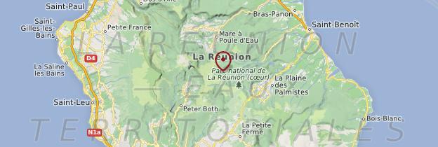 Carte Cirques et hautes plaines - Réunion
