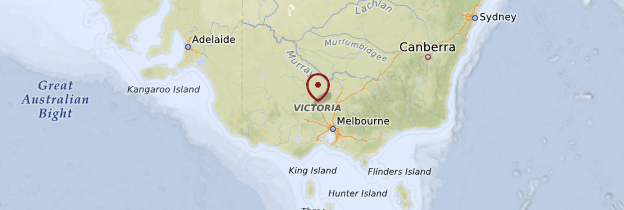 Carte État de Victoria - Australie