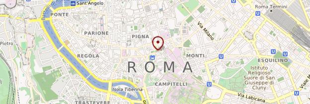 Carte Rome moderne et périphérique - Rome