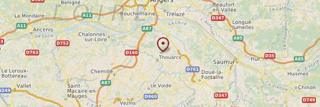 Carte Maine-et-Loire - Pays de la Loire