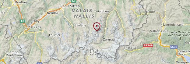 Carte Valais - Suisse