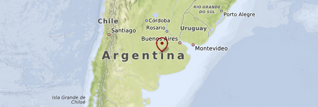 Carte Pampa - Argentine