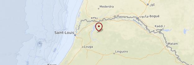 Carte Saint-Louis et le Nord - Sénégal