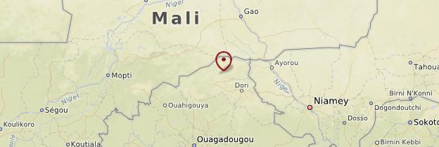 Carte Sahel - Burkina Faso
