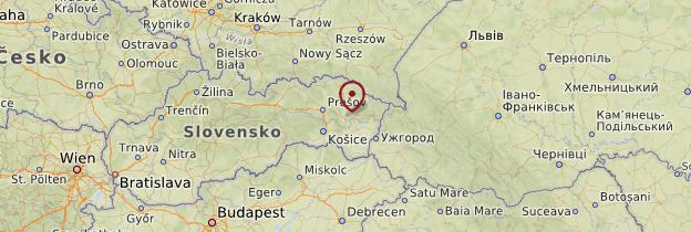 Carte Slovaquie orientale - Slovaquie