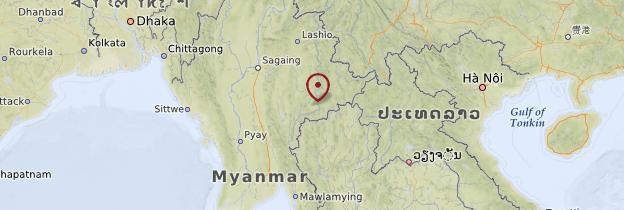Carte Sud-est du Myanmar (Môn et Karen) - Birmanie