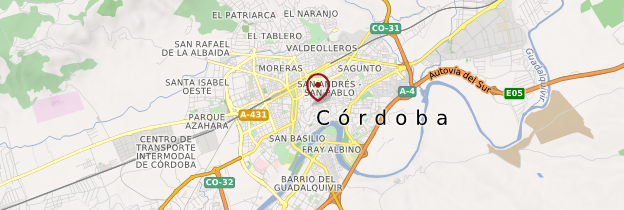 Carte Région de Cordoue - Andalousie