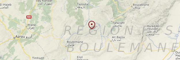 Carte Moyen Atlas - Maroc