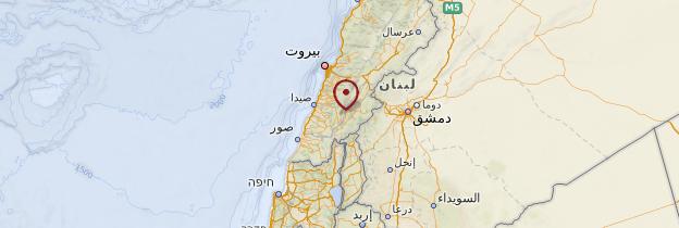 Carte Liban-Sud - Liban