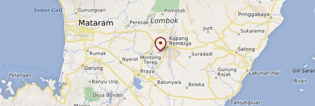 Carte Lombok (Nusa Tenggara) - Indonésie