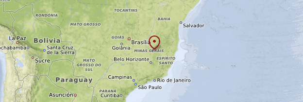 Carte Minas Gerais et Espirito Santo - Brésil
