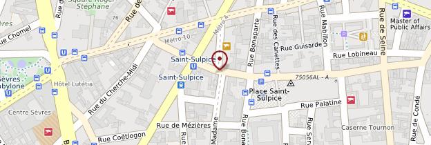 Carte 6ème arrondissement - Paris