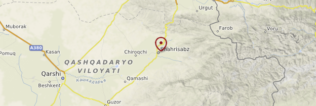 Carte Shakhrisabz - Ouzbékistan