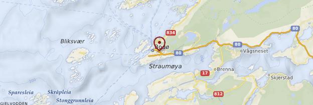 Carte Région du cercle polaire - Norvège