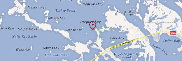 Carte Les Keys - Floride