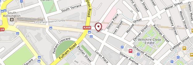 Carte Brompton, Chelsea, South Kensington et Knightsbridge - Londres