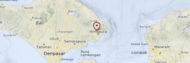 Carte Est de Bali - Bali