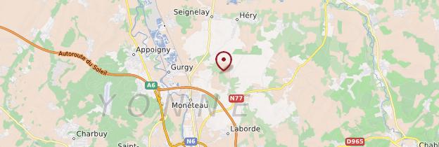 Carte Yonne - Bourgogne