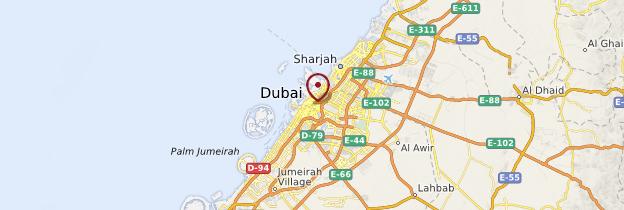 Carte Dubaï (ville) - Dubaï