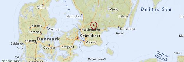 Carte Scanie - Suède