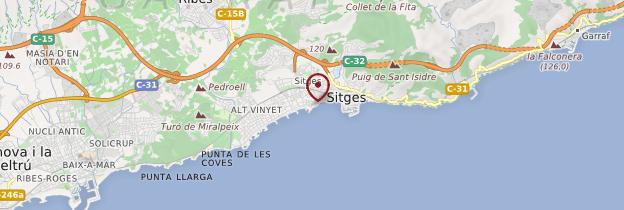 Carte Sitges - Catalogne