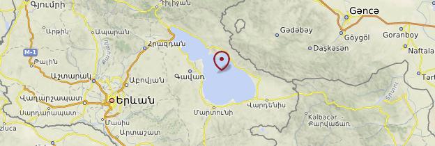 Carte Lac Sevan - Arménie