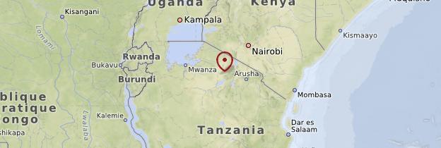 Carte Le Nord et les grands parcs nationaux - Tanzanie
