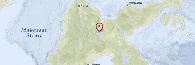 Carte Sulawesi - Indonésie