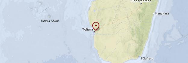 Carte Tuléar (Toliara) et sa région - Madagascar