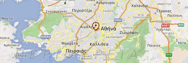 Carte Environs d'Athènes - Grèce