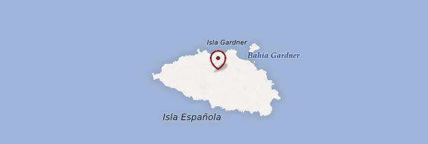 Carte Isla Española (Hodd Island) - Îles Galápagos