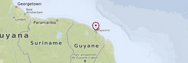 Carte Côte atlantique - Guyane