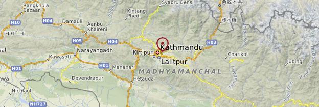 Carte Kathmandu - Népal