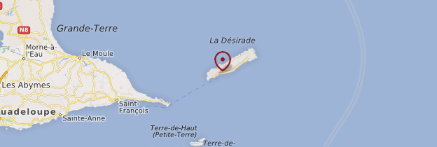 Carte La Désirade - Guadeloupe