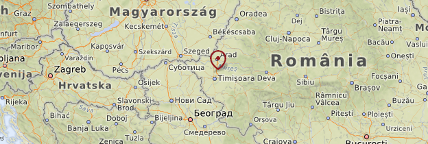 Carte Banat et Crişana - Roumanie