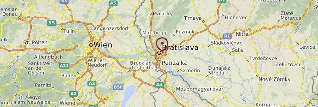 Carte Bratislava et ses environs - Slovaquie