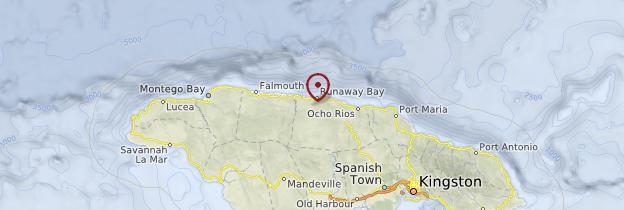 Carte Côte Nord - Jamaïque