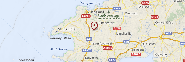 Carte Pembrokeshire Coast National Park (Park Cenedlaethol Arfordir Penfro) - Pays de Galles