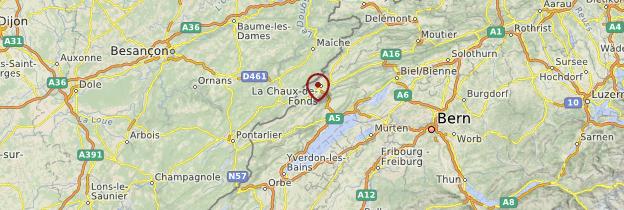 Carte Arc jurassien - Suisse