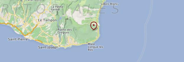 Carte Côte sud et Sud sauvage - Réunion
