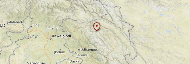 Carte Jammu-et-Cachemire - Inde