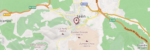 Carte Jaén - Andalousie