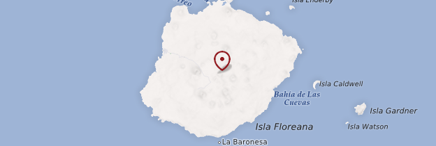 Carte Isla Santa Maria (Floreana) - Îles Galápagos