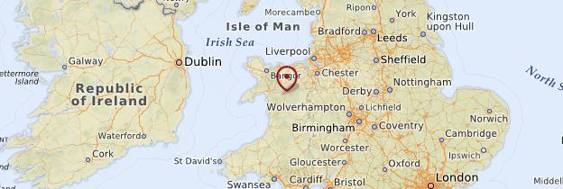 Carte North of Wales - Pays de Galles
