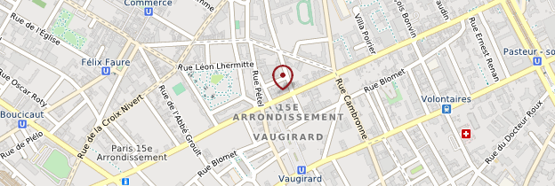 Carte 15ème arrondissement - Paris